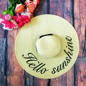 Accessories - ⬇️⬇️ Hello Sunshine Straw beach hat